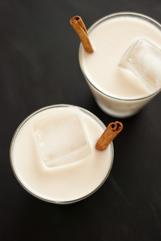 Homemade horchata, a delicious cinnamon-infused almond and rice milk served in Latin America. cookieandkate.com