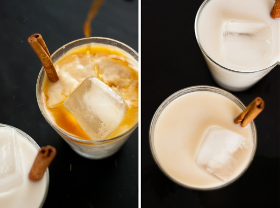 horchata with spiced rum