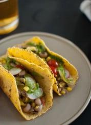 summer squash tacos with avocado chimichurri sauce recipe