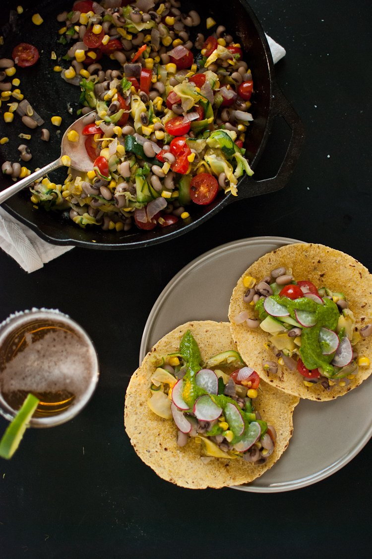 Summer Squash Tacos with Avocado Chimichurri - Cookie and Kate