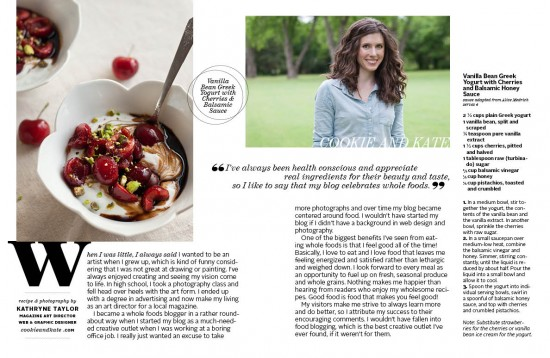 FoodieCrush Magazine featuring Cookie and Kate