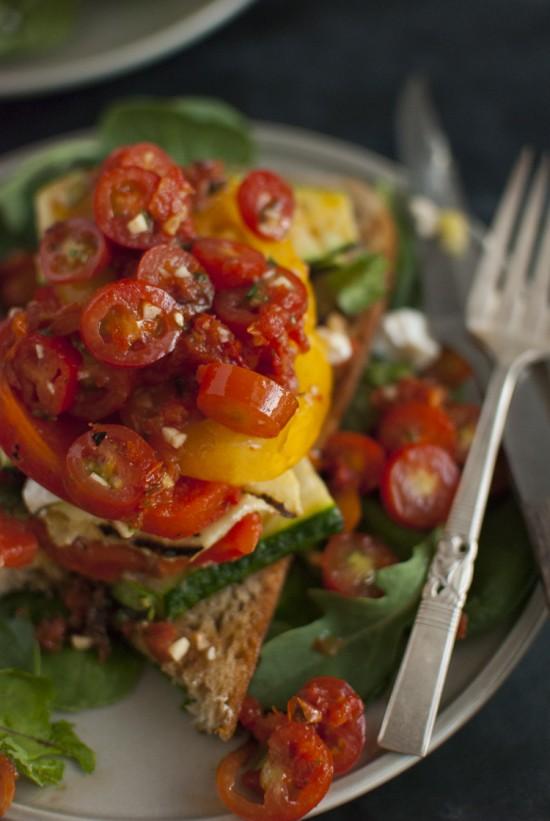 grilled vegetable summer salad