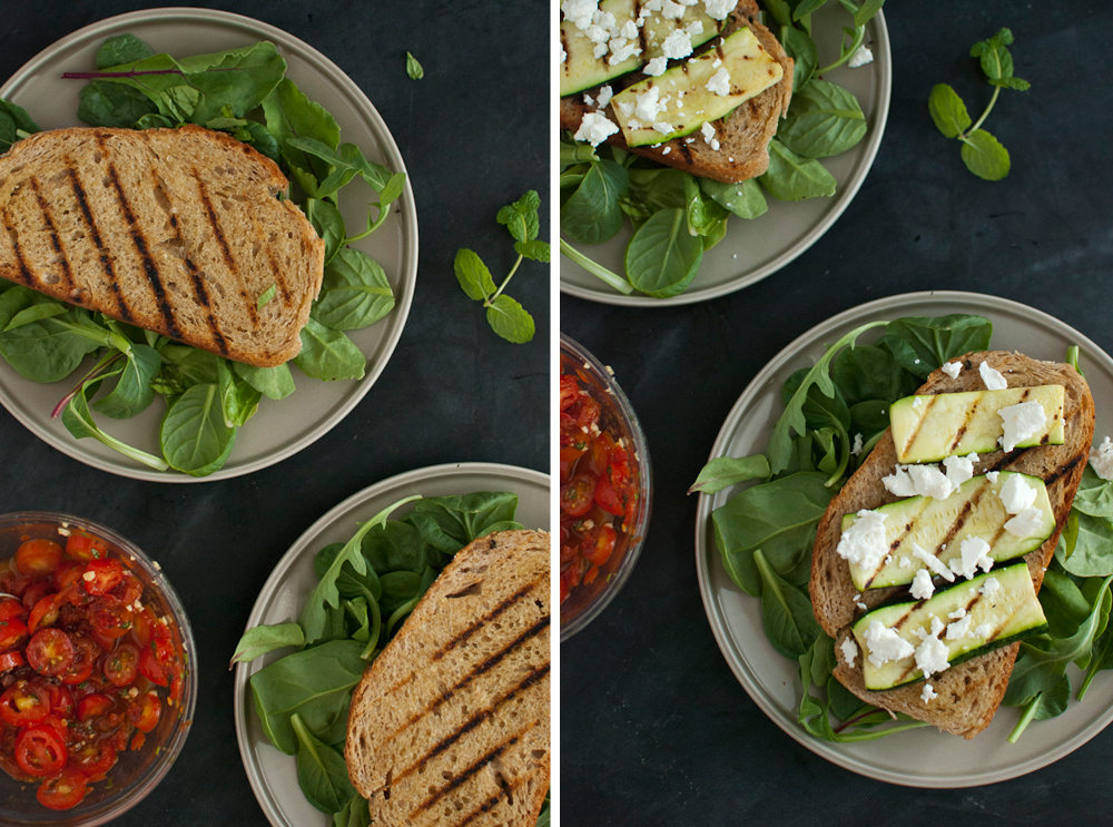 Stacked Tomato, Summer Vegetable and Grilled Bread Salad ...
