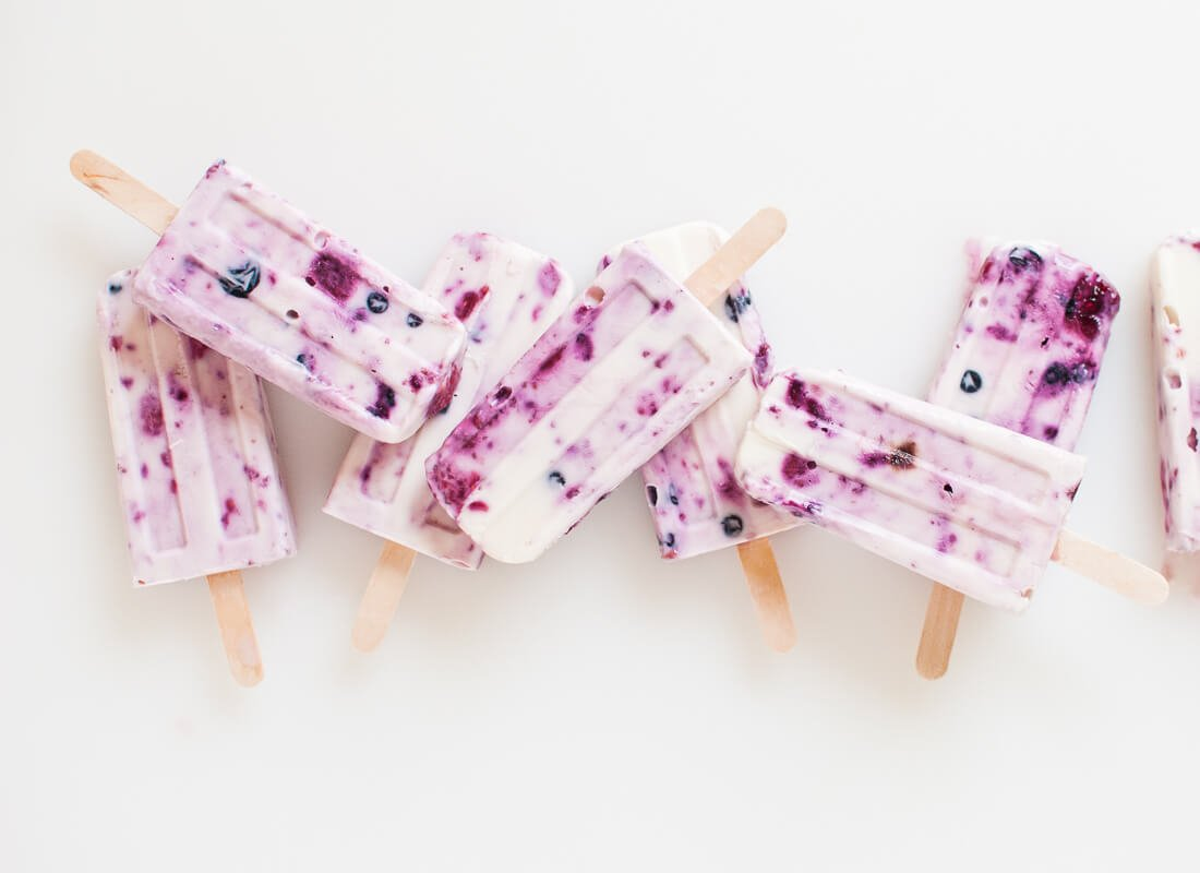 roasted berry popsicles recipe