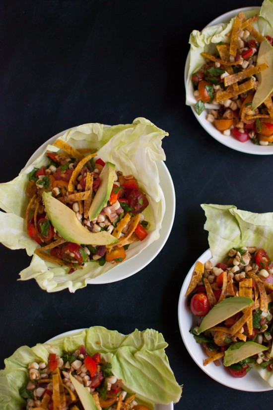 Sweet Corn Salad Wraps