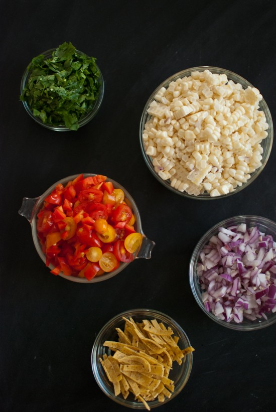 sweet corn salad ingredients
