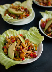Sweet Corn Salad Wraps recipe