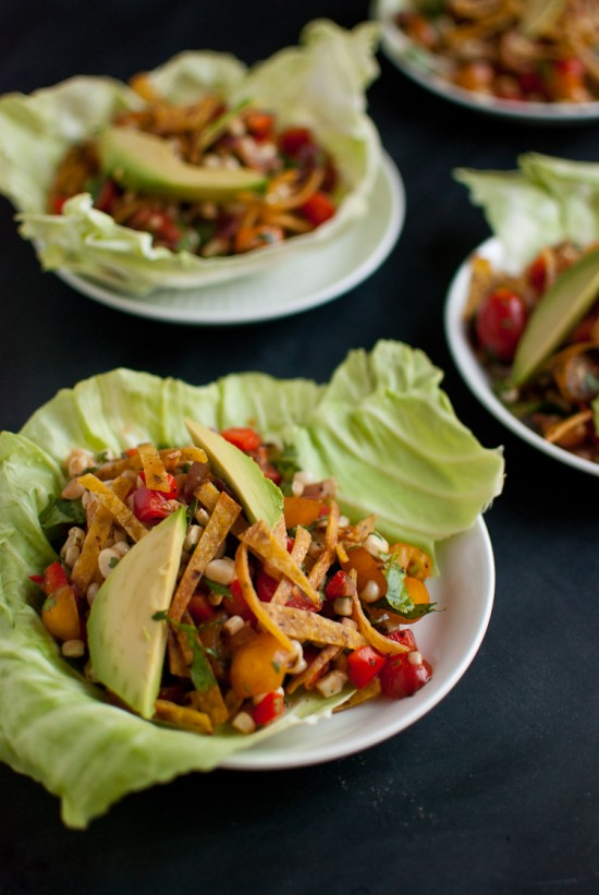 Sweet Corn Salad Wraps recipe