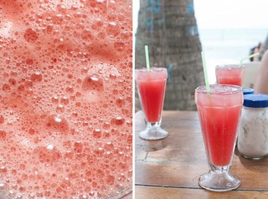 Watermelon juice in Belize