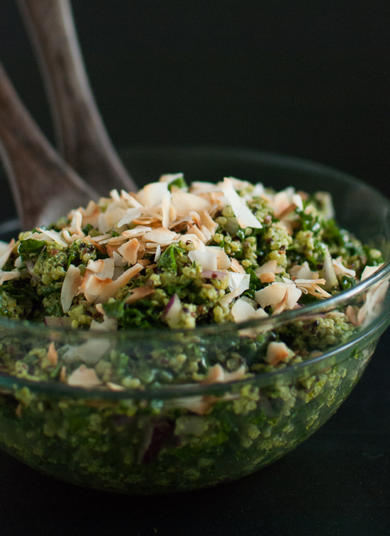 Coconut Quinoa and Kale with Tropical Pesto - Cookie and Kate