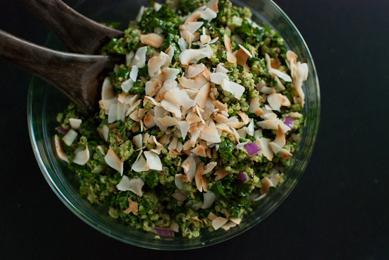 Coconut Quinoa and Kale with Tropical Pesto