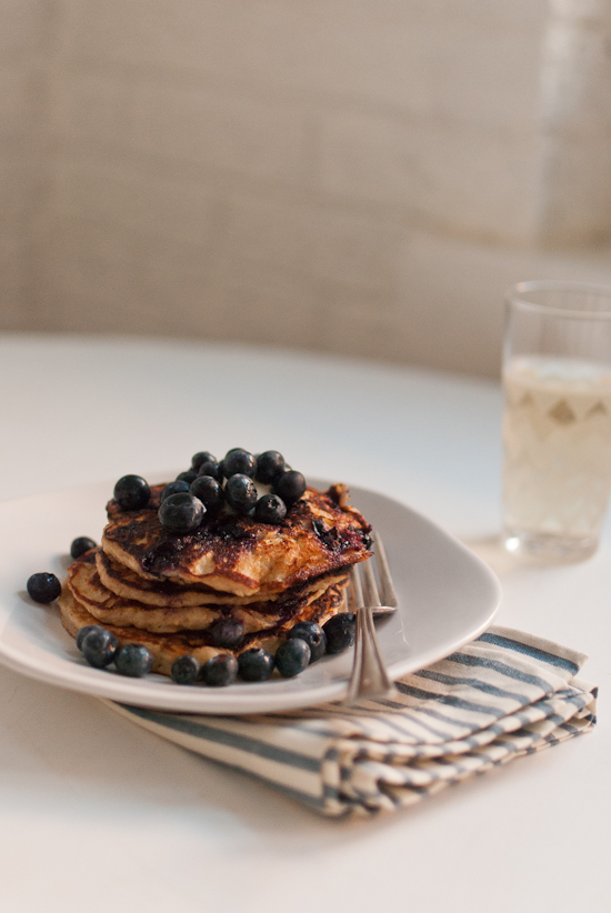Gluten-Free Blueberry Lemon Yogurt Pancakes