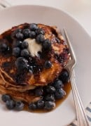 gluten-free blueberry lemon yogurt pancakes recipe