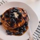gluten-free blueberry lemon yogurt pancakes recipe
