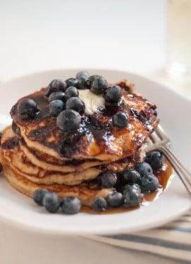 Blueberry Lemon Yogurt Pancakes