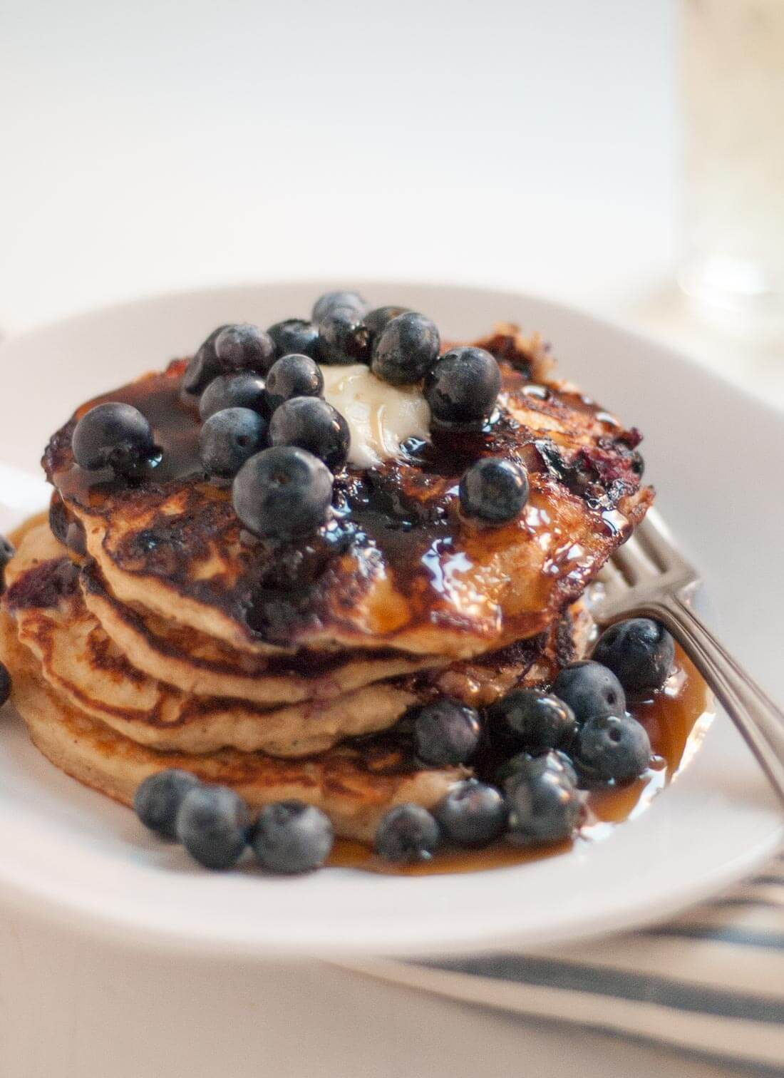Gluten-Free Blueberry Pancakes - cookieandkate.com