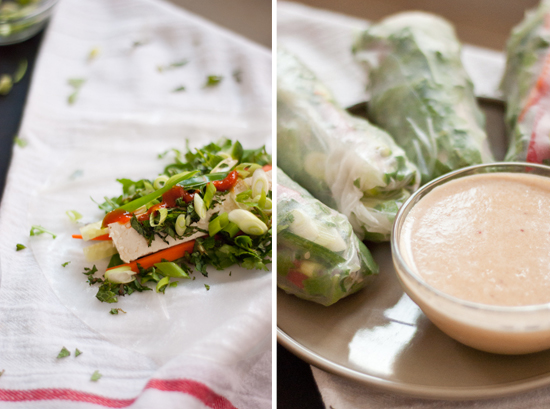 how to roll summer rolls