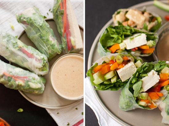 summer rolls recipe with peanut dipping sauce