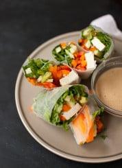 Summer Rolls with Spicy Peanut Sauce