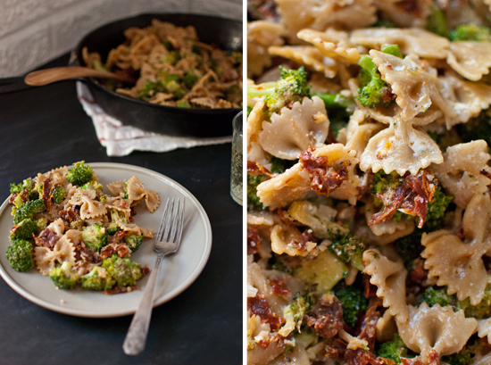 broccoli bow-tie pasta