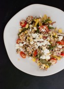 green bean quinoa salad with feta