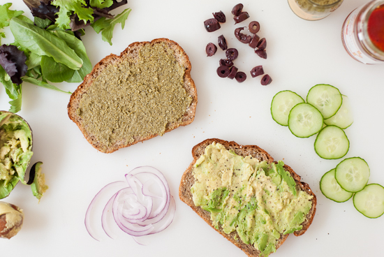 Greek avocado sandwich ingredients