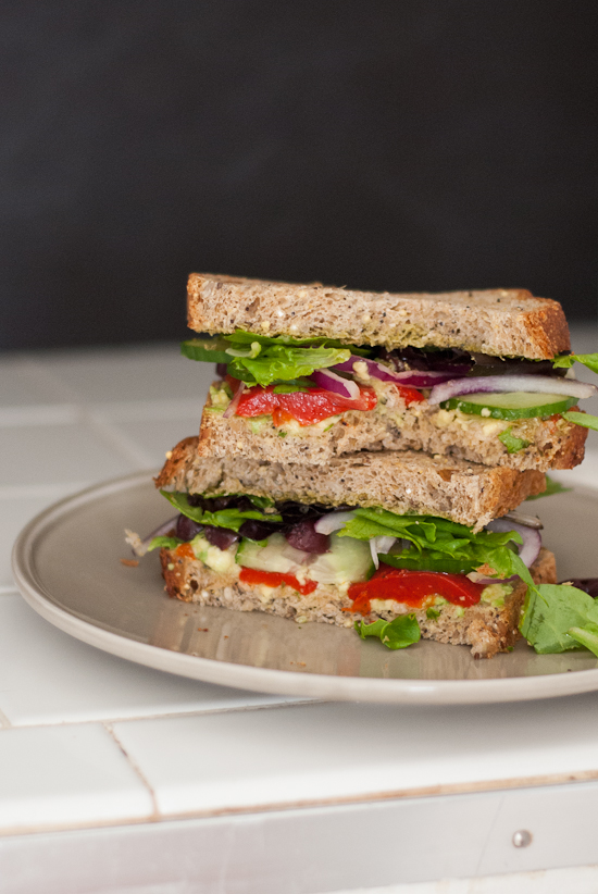 Simple Greek Avocado Sandwich