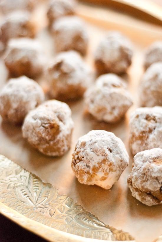 Pumpkin Pecan Polvorones (Mexican Wedding Cookies) - Cookie and Kate