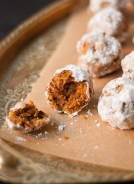 Pumpkin Pecan Polvorones (Mexican Wedding Cookies)