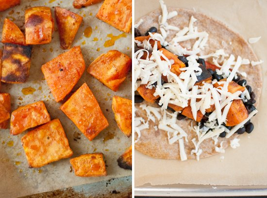 roasted sweet potato burrito