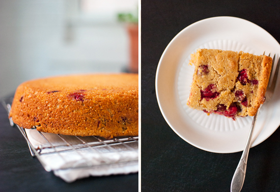 cranberry maple cornbread