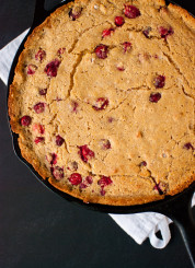 Cranberry maple skillet cornbread