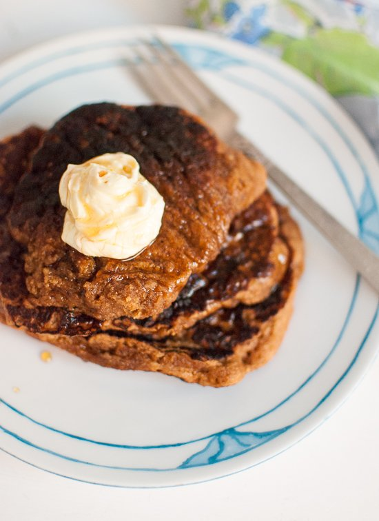 Whole Wheat Gingerbread Pancakes Recipe - cookieandkate.com