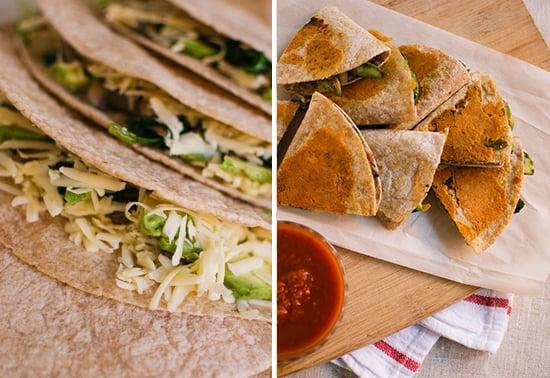 crispy veggie quesadillas