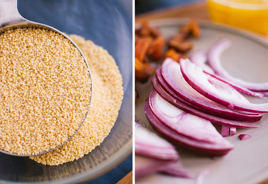 couscous and red onion