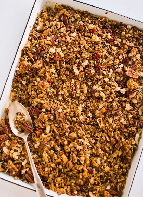 Healthy homemade gingerbread granola