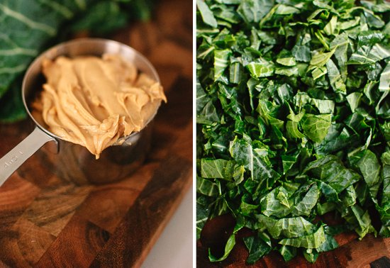 peanut butter and collard greens