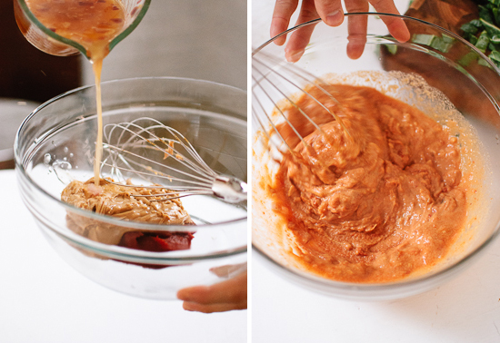 peanut butter and tomato paste