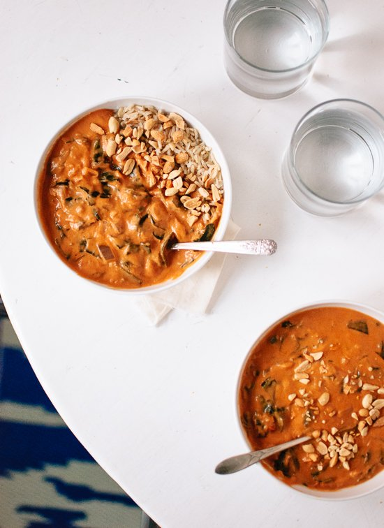 West African Peanut Soup - cookieandkate.com