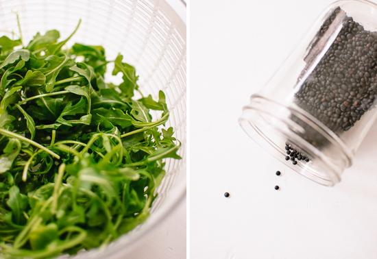 arugula and lentils