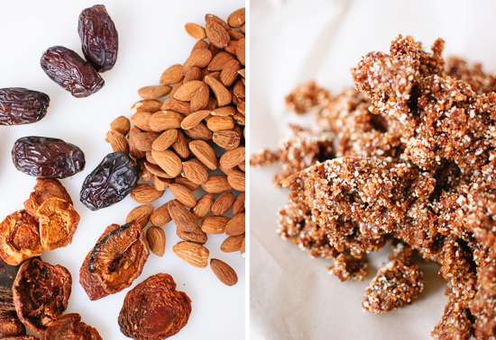 dates, almonds and apricots