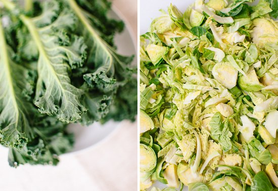 kale and brussels sprouts