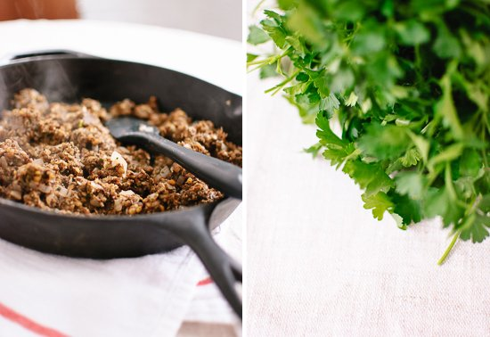 lentils and parsley