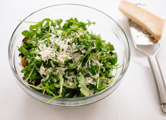 Parmesan on salad
