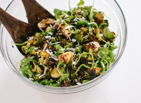 Roasted Broccoli, Arugula and Lentil Salad - recipe at cookieandkate.com