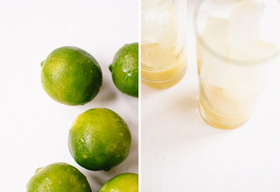 limes and ginger beer concentrate