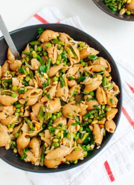 spring pea and asparagus pasta recipe
