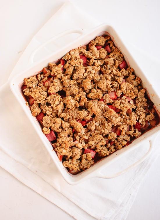 Strawberry Rhubarb Crisp Recipe - Cookie and Kate