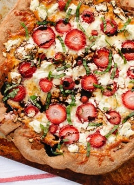 Strawberry, Basil and Balsamic Pizza