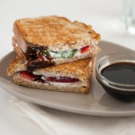 Strawberry, Basil and Goat Cheese Panini